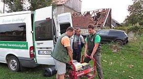 Kép: Református segítség az erdélyi viharkárosultaknak